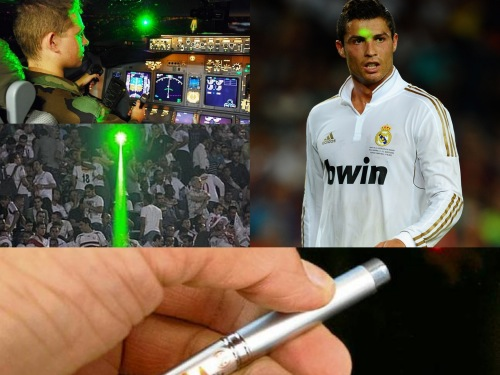 Uso irracional del puntero laser