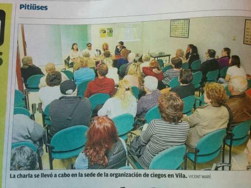 Publicación en el Diario de Ibiza - Charla sobre Glaucoma